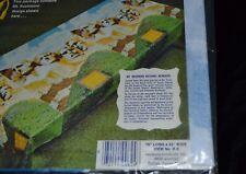 "Vintage 1970's Mt. Rushmore Plastic Picnic Tablecloth NOS Bicentennial 76"" x 42"""