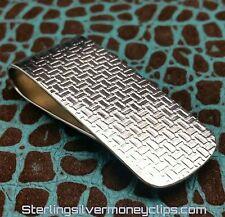 33.8g THICK TETRIS CLASSIC 935 925 Argentium Sterling Silver Money Clip USA