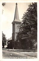 C26/ Albion Indiana In Real Photo RPPC Postcard c40s Presbyterian Church