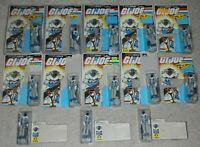 Lot 1985 GI Joe Cobra Snow Serpent Figures Army Builder Complete File Card Backs