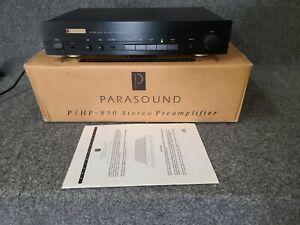 Parasound P/HP-850 high end Stereo Preamplifier pre amp w/ original box