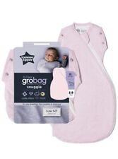 Tommee Tippee Grobag Newborn Snuggle Baby Sleep Bag 0-4m 1.0 Tog - Pink Marl NEW