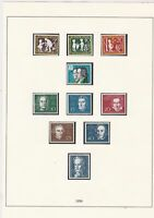 germany 1959 mint stamps page ref 17729