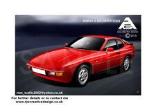 Porsche 924 A3 Poster
