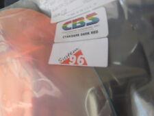 """Dichroic Glass: Cbs 96 Coe Cyan/Dk Dk Red on Thin Clear 3"""" Sq"""