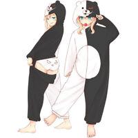 Danganronpa Monokuma Pajamas Home Clothes Flannel Unisex Anime Sleepwear Cosplay