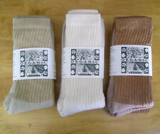 Organic Threads Colorgrown (Sally Fox) Organic Cotton Crew Socks NEW Made in USA