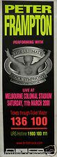 "PETER FRAMPTON ""MELBOURNE"" 2000 AUSTRALIAN CONCERT TOUR POSTER/BANNER- Hard Rock"