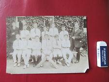 Cricket Boy Club Old original photograph 1908
