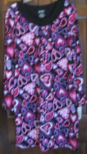 NICK & NORA Womens Sz S MOD HEARTS  Gown NWT gown VALENTINE