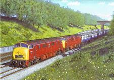 Classe 42 navire de guerre moteur diesel locomotive train chemin de fer carte anniversaire