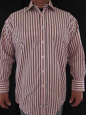 ENGLISH LAUNDRY Christoper Wicks 100% Cotton Striped Dress Shirt 17.5 32/33 NWT