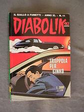 DIABOLIK ORIGINALE ANNO XL n° 11 - 2001 - RARO - OTTIMO