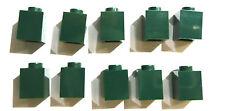 10 Stück LEGO® 3005 seltene Lego Basic Bausteine 1x1 Noppen Emerald-Grün Neu.