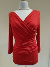 Vivienne Westwood Anglomania Red draped Stretch Top Size L UK 12 BNWT