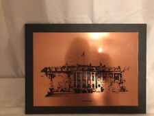 Pre-owned White House Copper Picture On Wooden Frame As Is