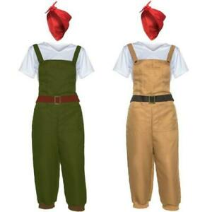 WW2 1940s Land Girl Womens Army World War 2 Fancy Dress Costume Dig for victory