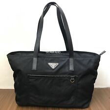Pre Owned Authentic Prada Nylon Black Tote Bag / Shoulder Bag