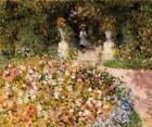 Auguste Renoir The Garden Fine Art Giclee Print on Canvas Home Decor Small 8x10