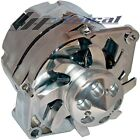 NEW ALTERNATOR CHROME FOR CHEVY HOLDEN GM HOTROD 1,ONE WIRE HIGH OUTPUT 200 AMP