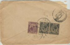 /STRAITS SETTLEMENTS 1925 COVER to INDIA - very poor condition @JD1634