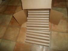 """24 x 1.5"""" Dia x 13"""" Length Good Strong A3 Size Cardboard Mailing Tubes+Cap Ends"""