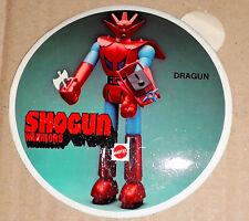 """70's Shogun Warriors DRAGUN Mattel 24"""" Jumbo Machinder Toy Store Promo Sticker"""