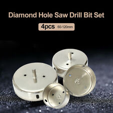 4pcs 60-120mm Diamond Cutter Tool Drill Bit Tile Marble Glass Ceramic Hole Saw