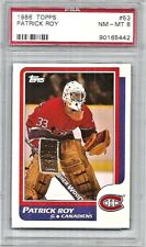 Patrick Roy Montreal Canadiens 1986-87 Topps Card #53 PSA NM-MT 8