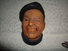 Vintage Bossons Chalkware Head Hand Painted  England 1967 Boatman