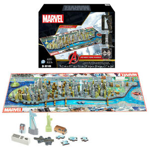 Marvel Avengers New York 4D Toy Jigsaw Puzzle 818 Piece Cinematic Universe NEW