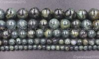Natural Black Rhyolite Jasper Gemstone Round Beads 4mm 6mm 8mm 10mm 12mm 15.5''