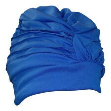 Womens Bathing Cap Swim Turban Blue Adustable 3472