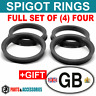 72.6 - 65.1 SPIGOT RINGS SET OF 4 For Alloy Wheel Hub Centric wheel spacer +GIFT