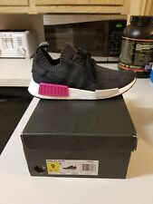 New Women's Adidas NMD R1 PK Primeknit Running Training Casual Shoes 9 Black