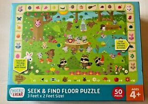 Chuckle & Roar 50-Piece Easter Seek and Find Floor Puzzle 3'x2' Buffalo Games