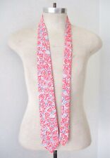 Vtg Lilly Pulitzer Men's Stuff Tie Pink Abstract Hearts Blue Flower Palm Beach