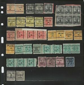 United States Classics...PRE-CANCELS 1922/32...6 cents to 15 cents...Lot of 41