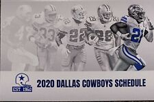 2020 Dallas Cowboys Schedule � Very Cool Nfl Football Sked � The Backs ! �