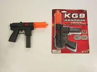 """1 NEW KG9 HANDGUN TOY CAP GUN 9"""" POLICE PISTOL DETECTIVE  FIRES 8 RING CAPS"""