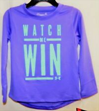 "Under Armour Girls Size 2T Violet Storm Color ""WATCH ME WIN"" Long Sleeves NWT"
