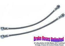 STAINLESS FRONT BRAKE HOSES Chevrolet Bel Air, 1971 1972 1973