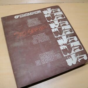CHAMPION 700 SERIES Motor Grader Parts Book Manual List Catalog 1987 spare plow