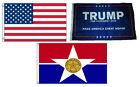 3x5 Trump #1 & USA American & City of Dallas Wholesale Set Flag 3'x5'