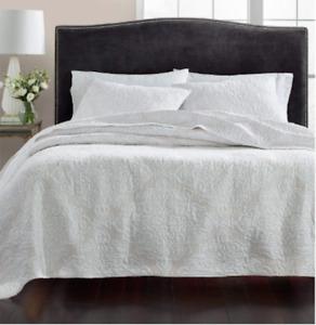 Martha Stewart - TWIN - Quilt Gilded Age - Quilted - 100% Cotton - White
