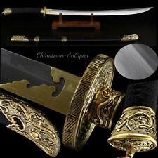 Horse saber Broadsword waist knife Hand Forged Folded pattern Steel Sharp #2067