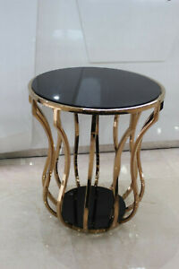 Design Side Table Glastissch Metal Couch Sofa Immediate Delivery Available