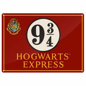 HARRY POTTER Hogwarts Express Platform 9 3/4 Metal Wall Sign Collectable/Gift.