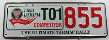 "Nummernschild Australien Tasmania ""TARGA TASMANIA 2001 COMPETITOR"". 12457."