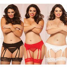 Plus Size 8 Strap Garter Belt  Black, Red Or White 1X / 2X or 3X / 4X  STM10522X
